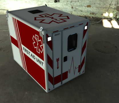 Rendered First Aid Mobile Lab